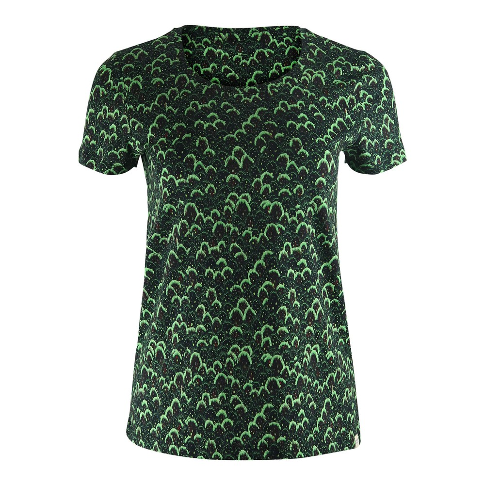 Scotch & Soda Printed Boxy Fit T-Shirt Black and Green