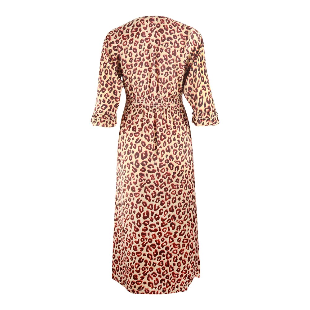 Scotch & Soda Midi Length V-Neck Dress Brown