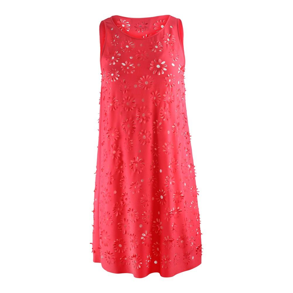 Moschino Boutique Fuschia Laser Cut Shift Dress Pink