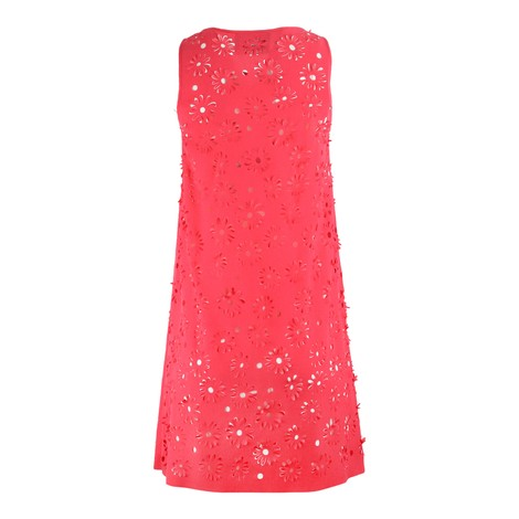 Moschino Boutique Fuschia Laser Cut Shift Dress