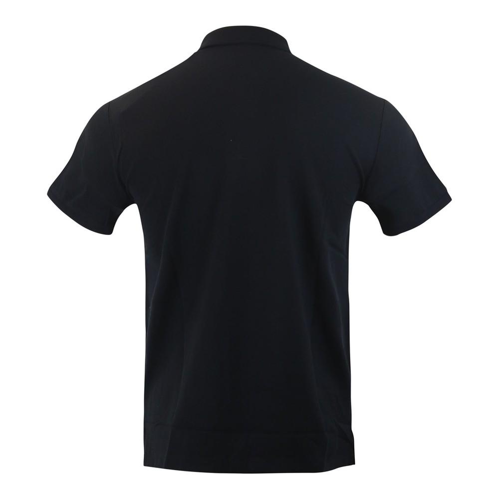 Moose Knuckles Gold Logo Polo Shirt Black