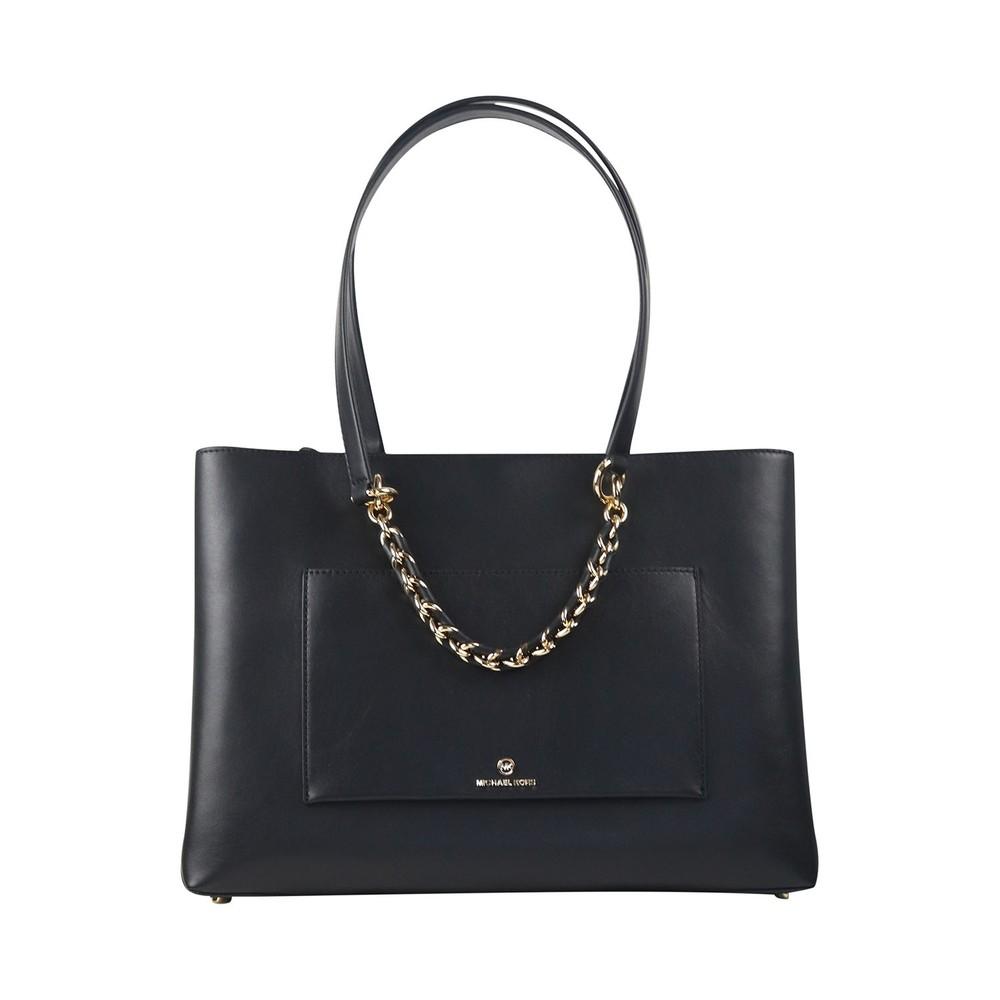 Michael Kors Tote Leather Bag Black