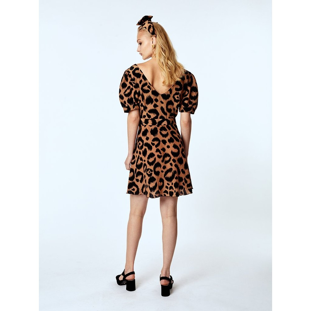 Hayley Menzies  Mini Dress With Matching Belt Animal Print