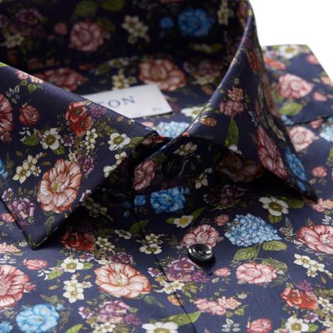 Eton Slim Fit Floral Print Shirt