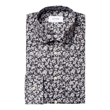 Eton Slim Fit All Over Flower Print Shirt
