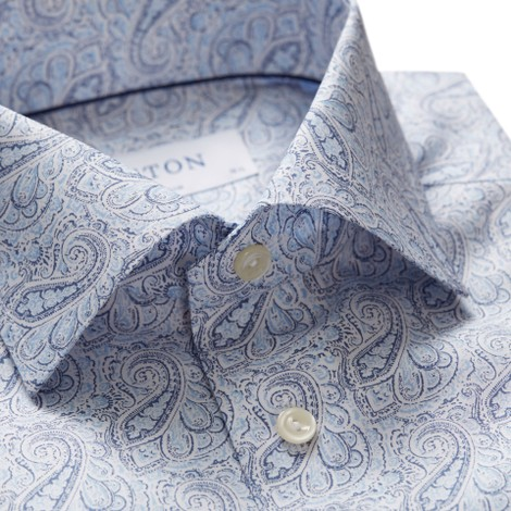 Eton Slim Fit Paisley Shirt