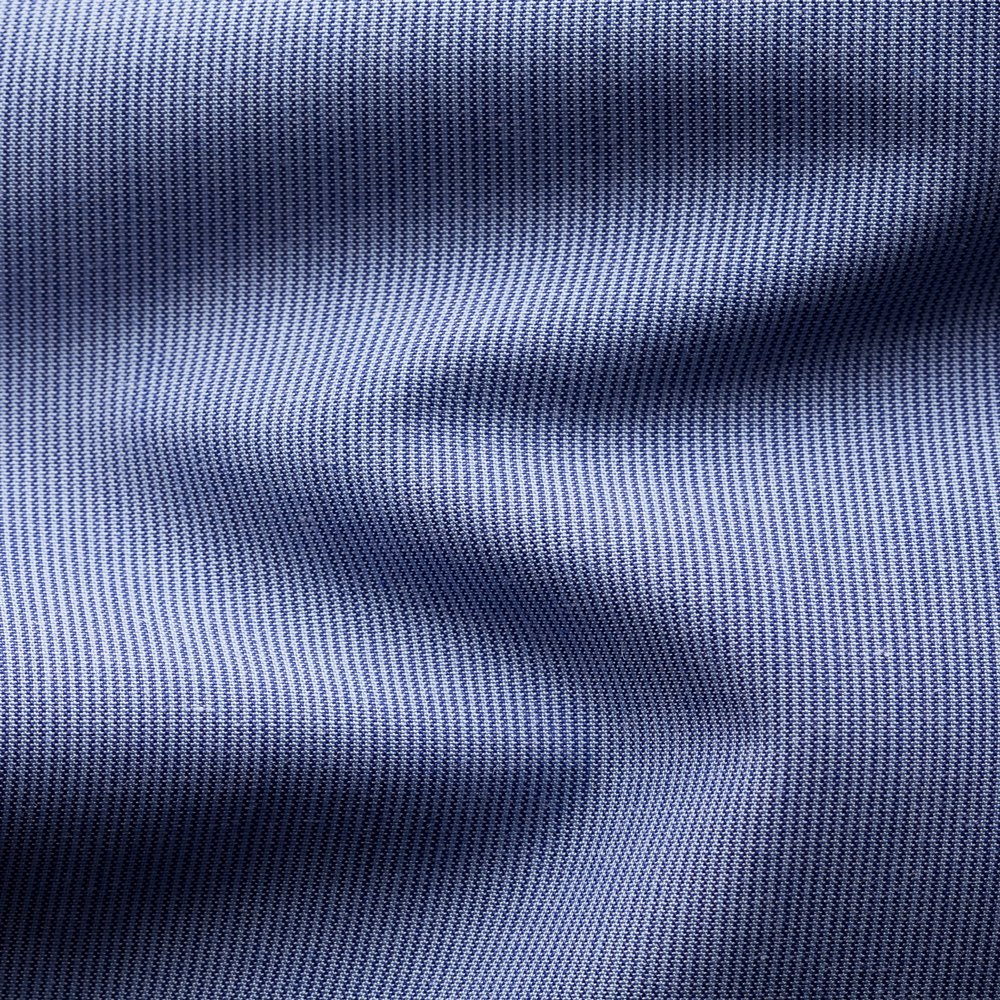 Eton Contemporary Fit Shirt With Diamond Print Collar Trim Blue
