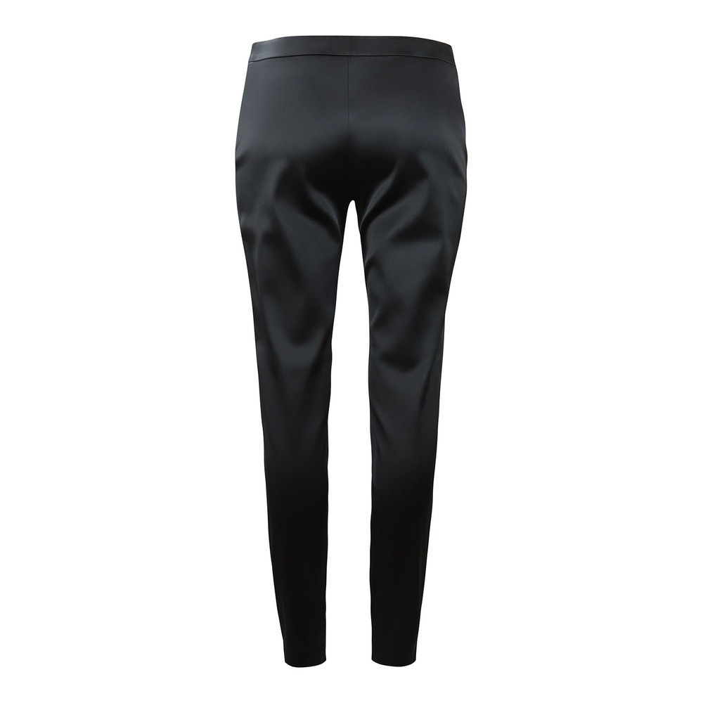 Moschino Boutique Black Satin Trouser with Zip Black