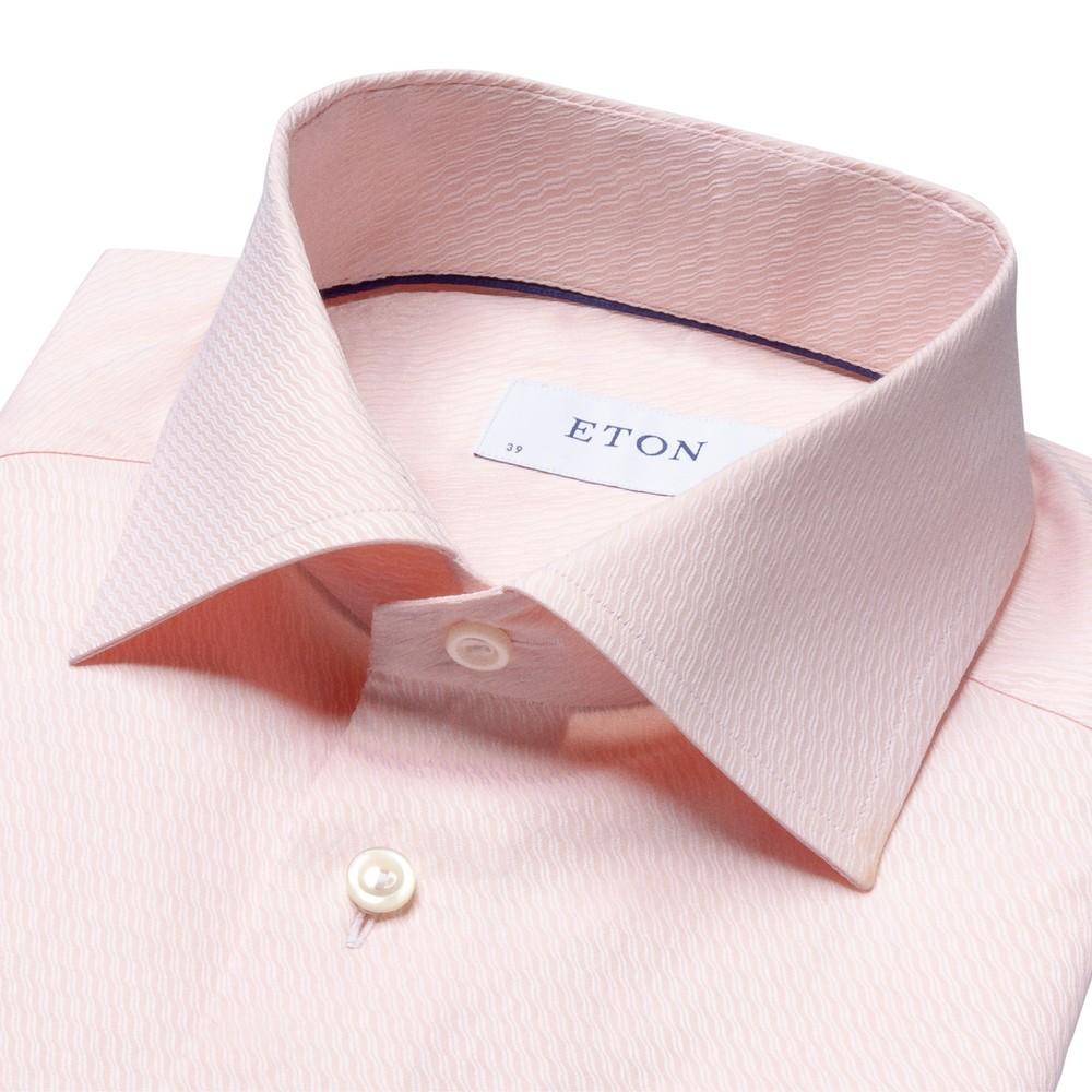 Eton Slim Fit Ripple Shirt Nude