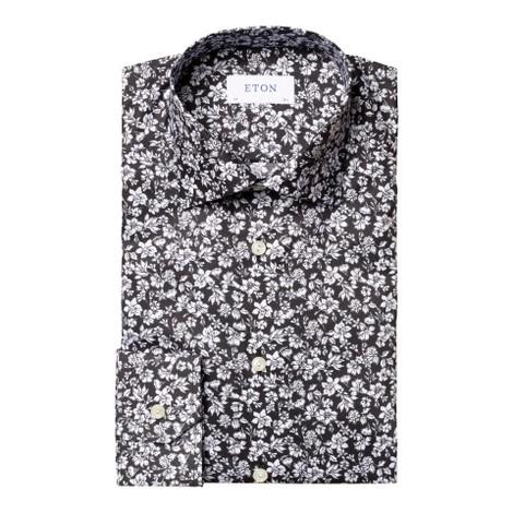 Eton Contemporary Fit All Over Flower Print (no colour) Shirt