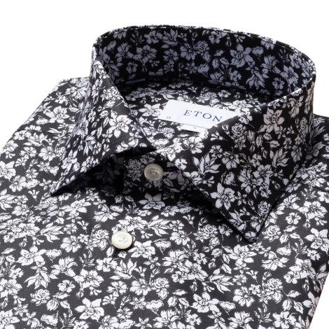 Eton Contemporary Fit All Over Flower Print Shirt