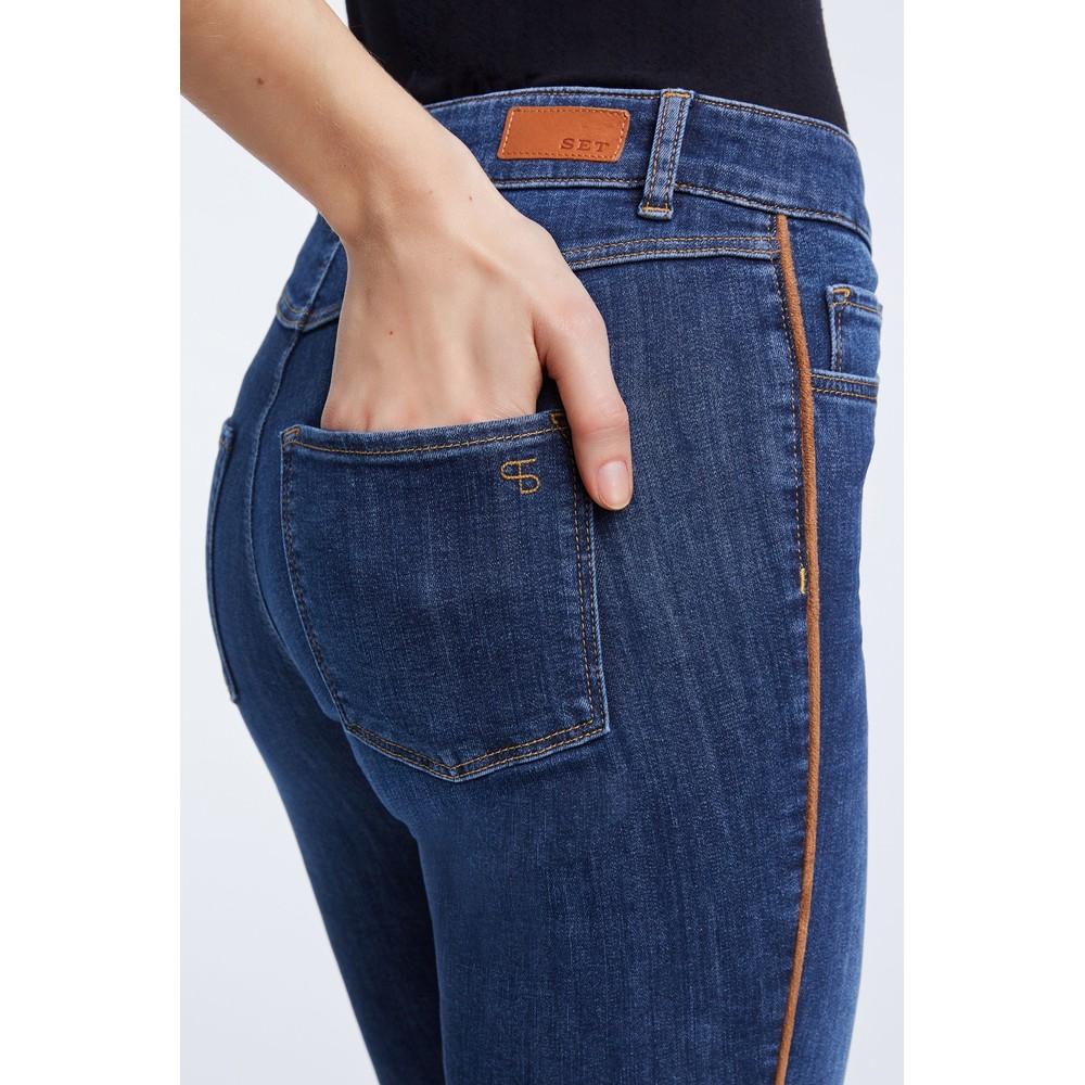 Set Mid Wash Denim Jeans Mid Wash Denim