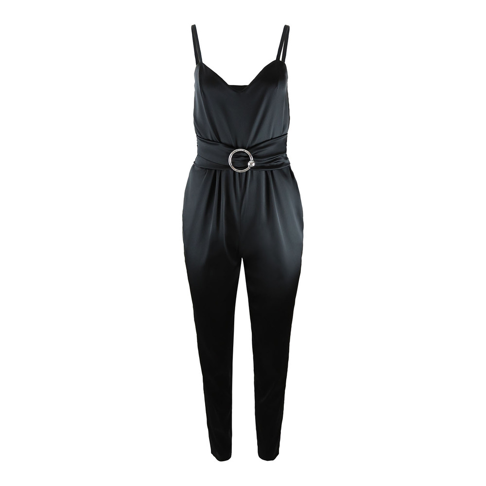Moschino Boutique Black Satin Jumpsuit Black