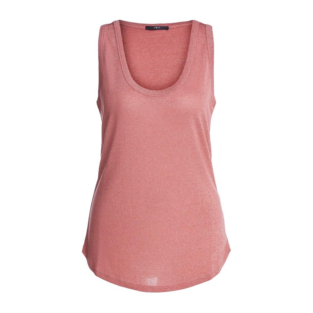 Set Lurex Vest Pink
