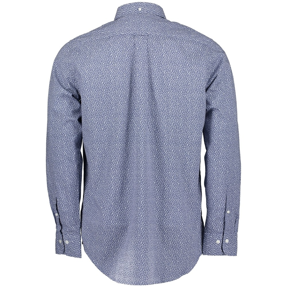 GANT D1. Micro Floral Print Reg BD Shirt Blue Pattern