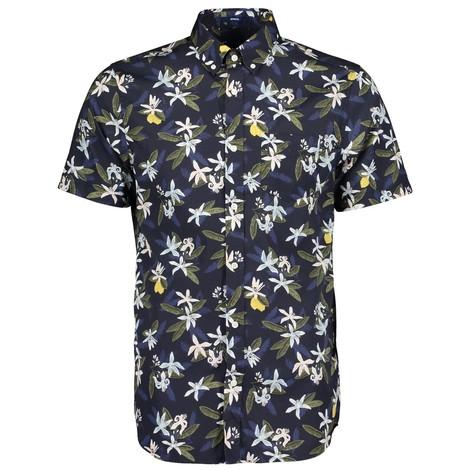 GANT D2.Lemon Flower Print Reg BD SS Shirt