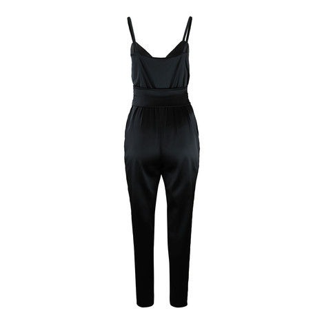 Moschino Boutique Black Satin Jumpsuit