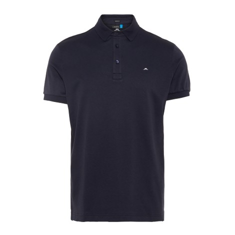 J.Lindeberg Stan Reg Fit-Club Pique Polo Shirt in Navy