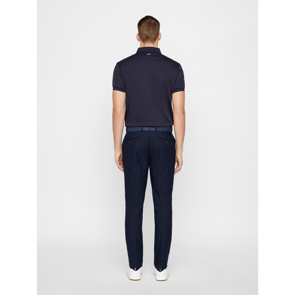 J.Lindeberg Stan Reg Fit-Club Pique Polo Shirt Navy