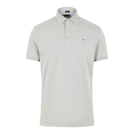 J.Lindeberg Stan Reg Fit-Club Pique Polo Shirt in Stone