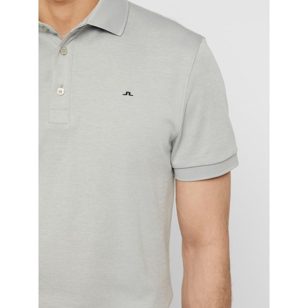 J.Lindeberg Stan Reg Fit-Club Pique Polo Shirt Stone