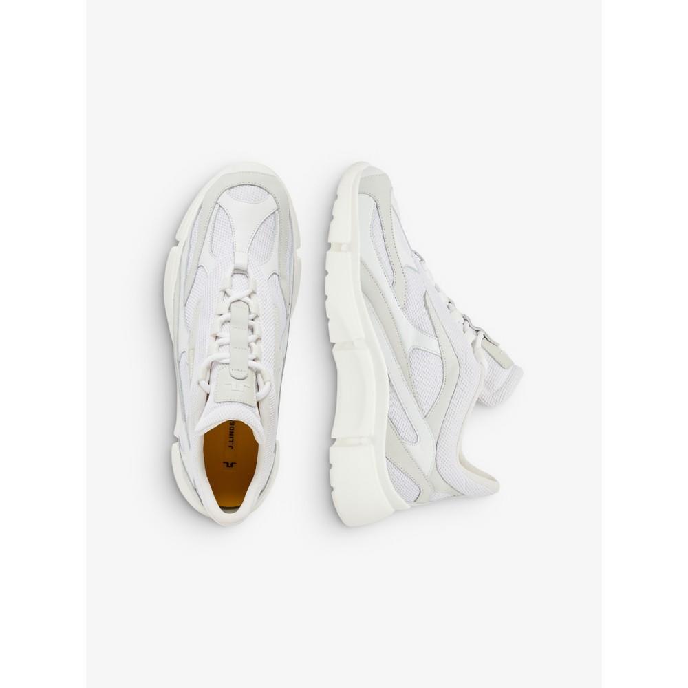 J.Lindeberg Sane Runner-Mixed Fabric Sneaker White