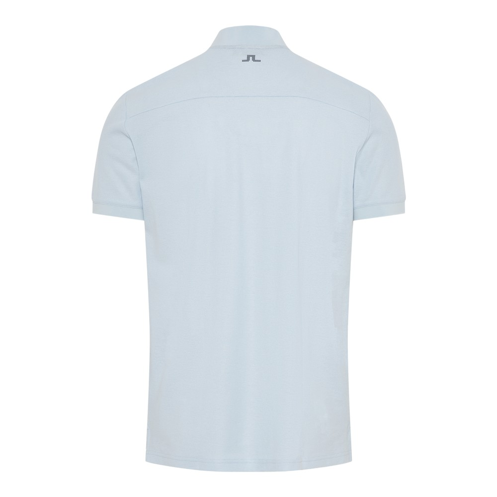 J.Lindeberg Leo-Clean Pique Polo Shirt Light Blue