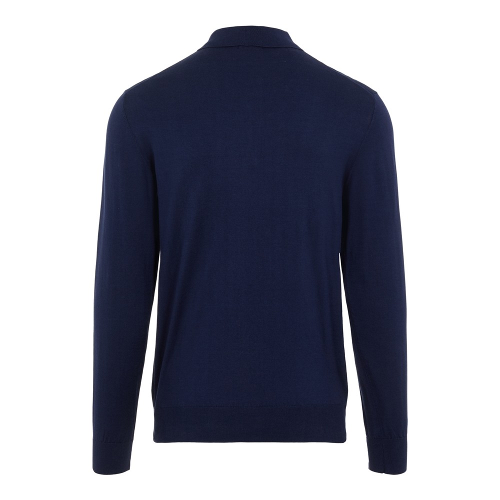 J.Lindeberg Rowan-Cotton Silk Polo Shirt Navy