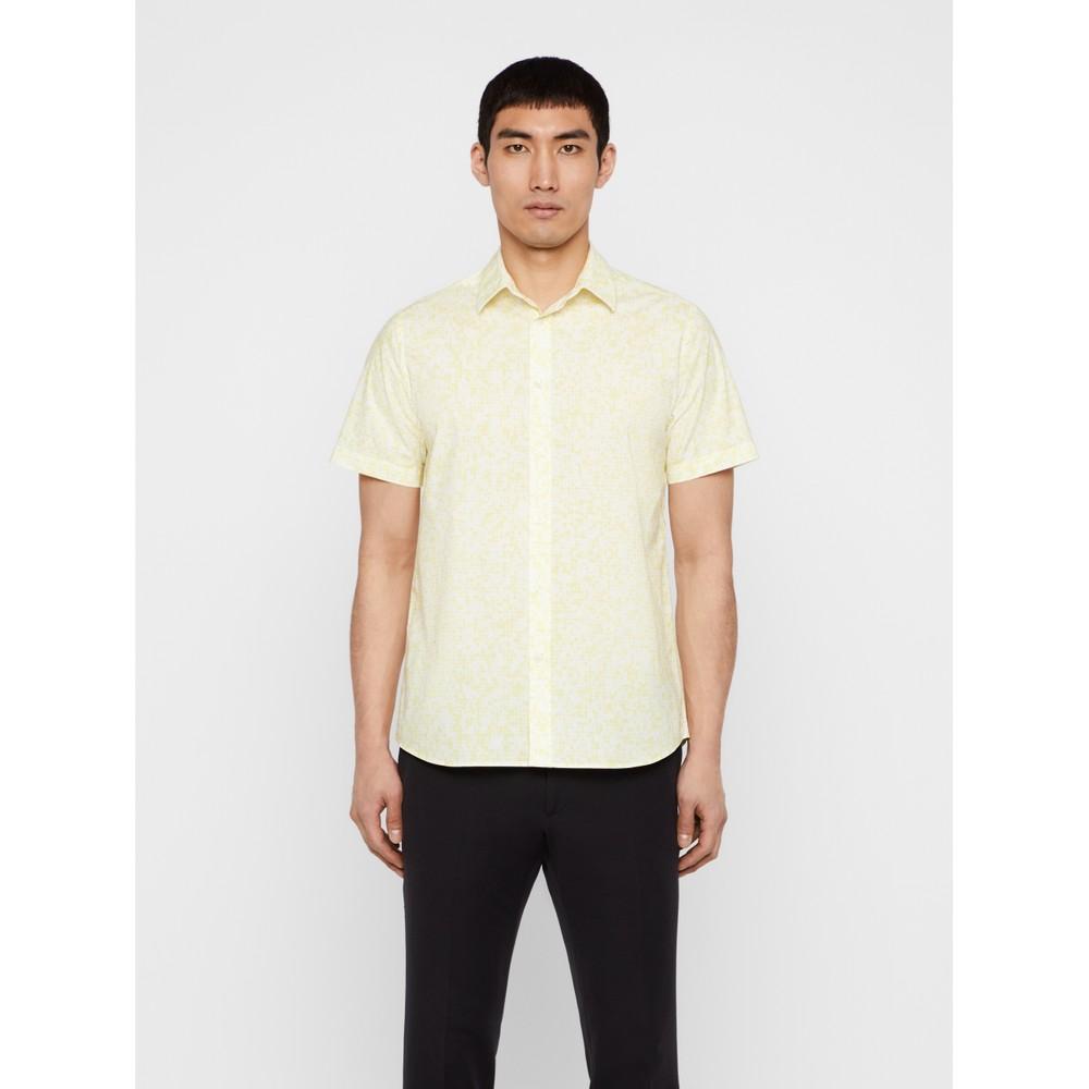 J.Lindeberg Daniel SS-Seasonal Print Shirt Yellow