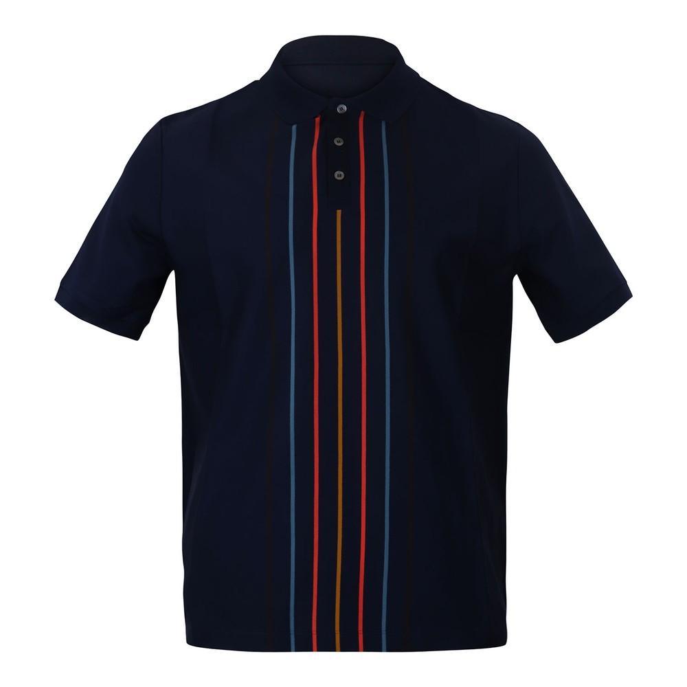 Paul Smith Gents Oversize Polo Shirt Dark Navy
