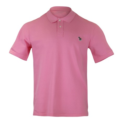 PS Paul Smith Mens Reg Fit SS Polo Shirt in Pink