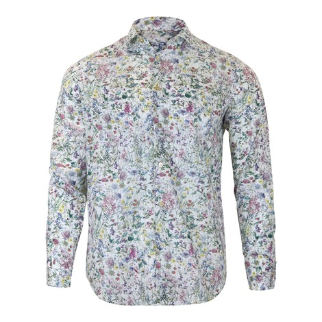 Paul Smith Gents Floral Tailored Shirt in Multi