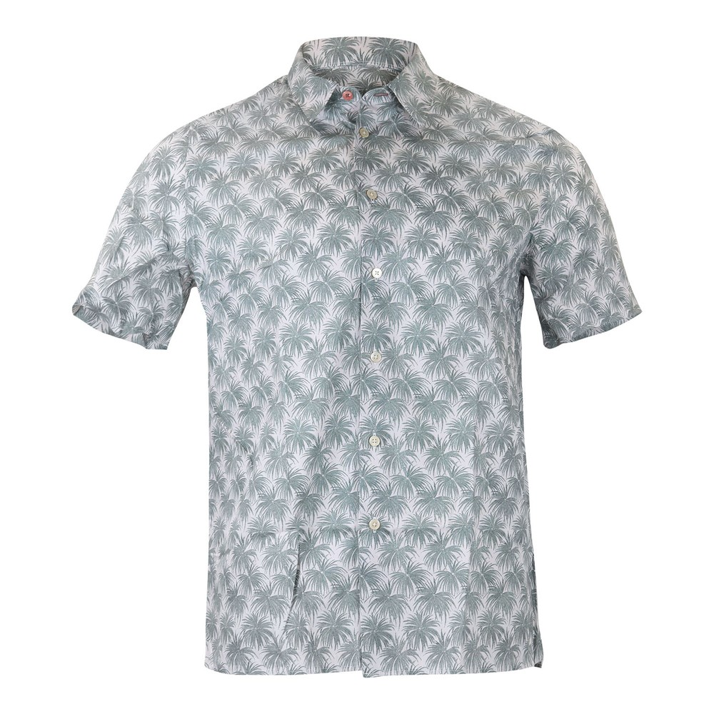 PS Paul Smith Palm Print Casual Shirt Powder