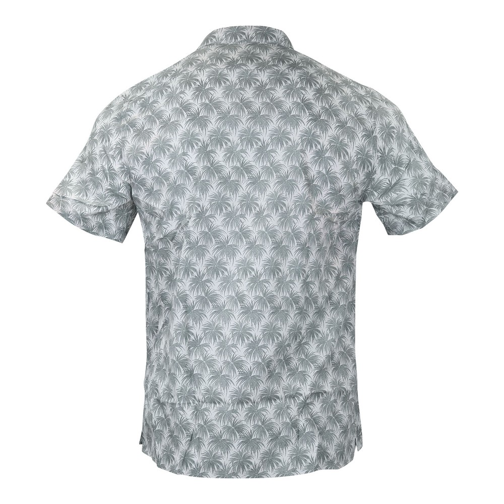 PS Paul Smith Palm Print Casual Shirt Powder