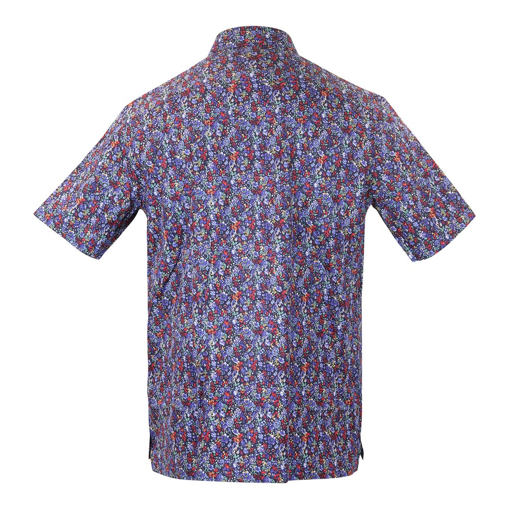 Paul Smith Gents S/S Tailored Shirt Navy Pattern
