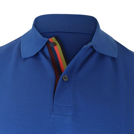 Paul Smith Cotton-Piqué Polo Shirt With 'Artist Stripe' Placket
