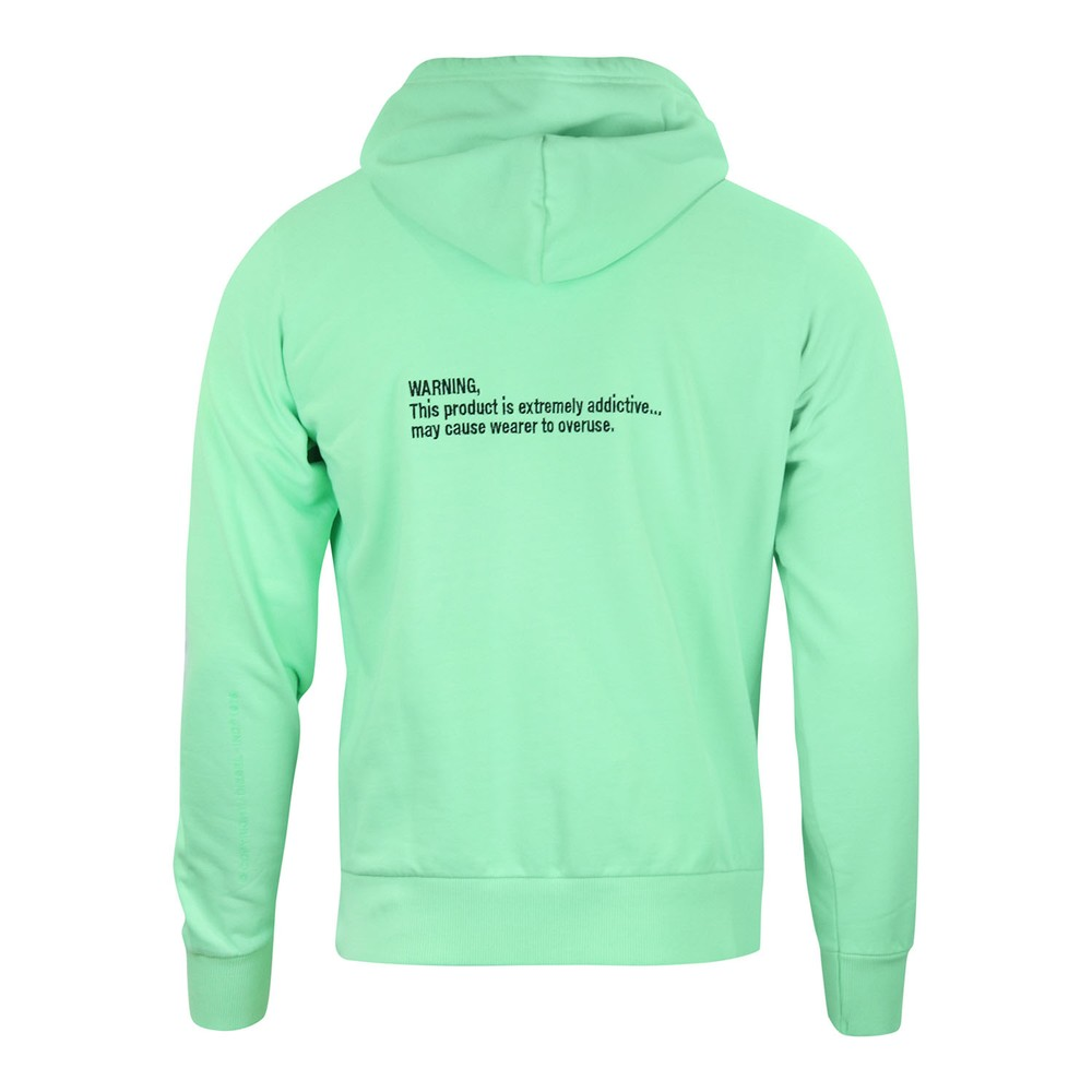Diesel S-Girk-Hood-Fluo Hoodie Green
