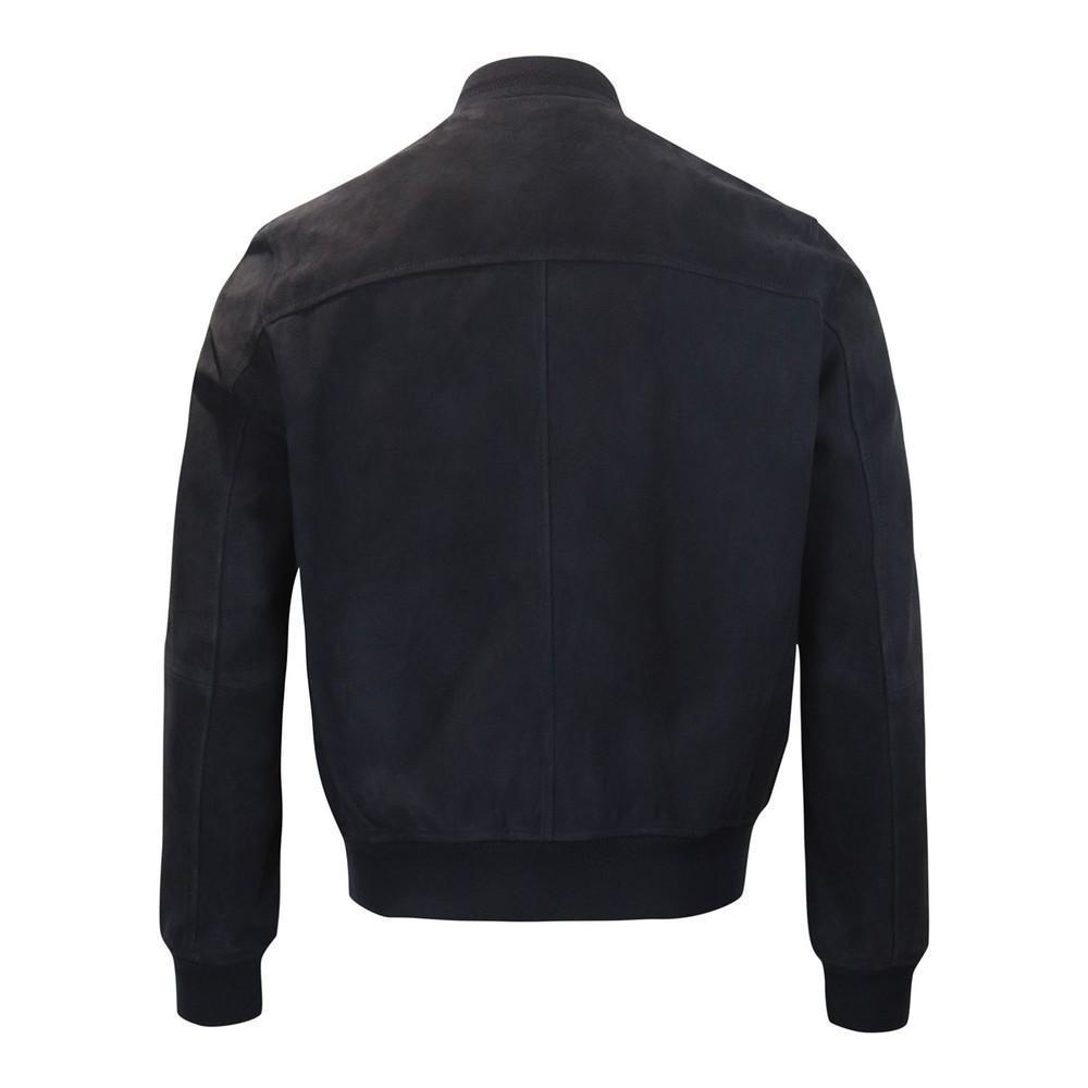 Belstaff Harbour Suede Jacket Dark Blue