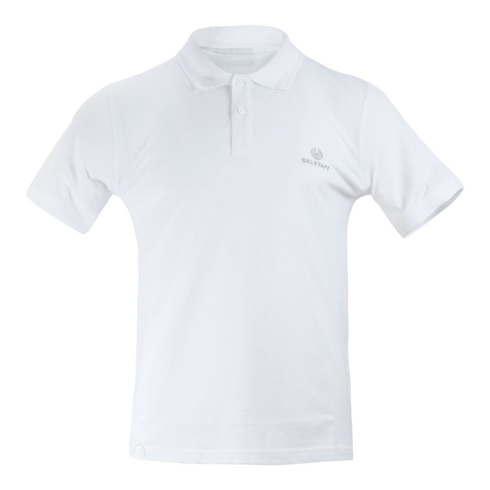 Belstaff Short Sleeve Embroidered Logo Polo Shirt White