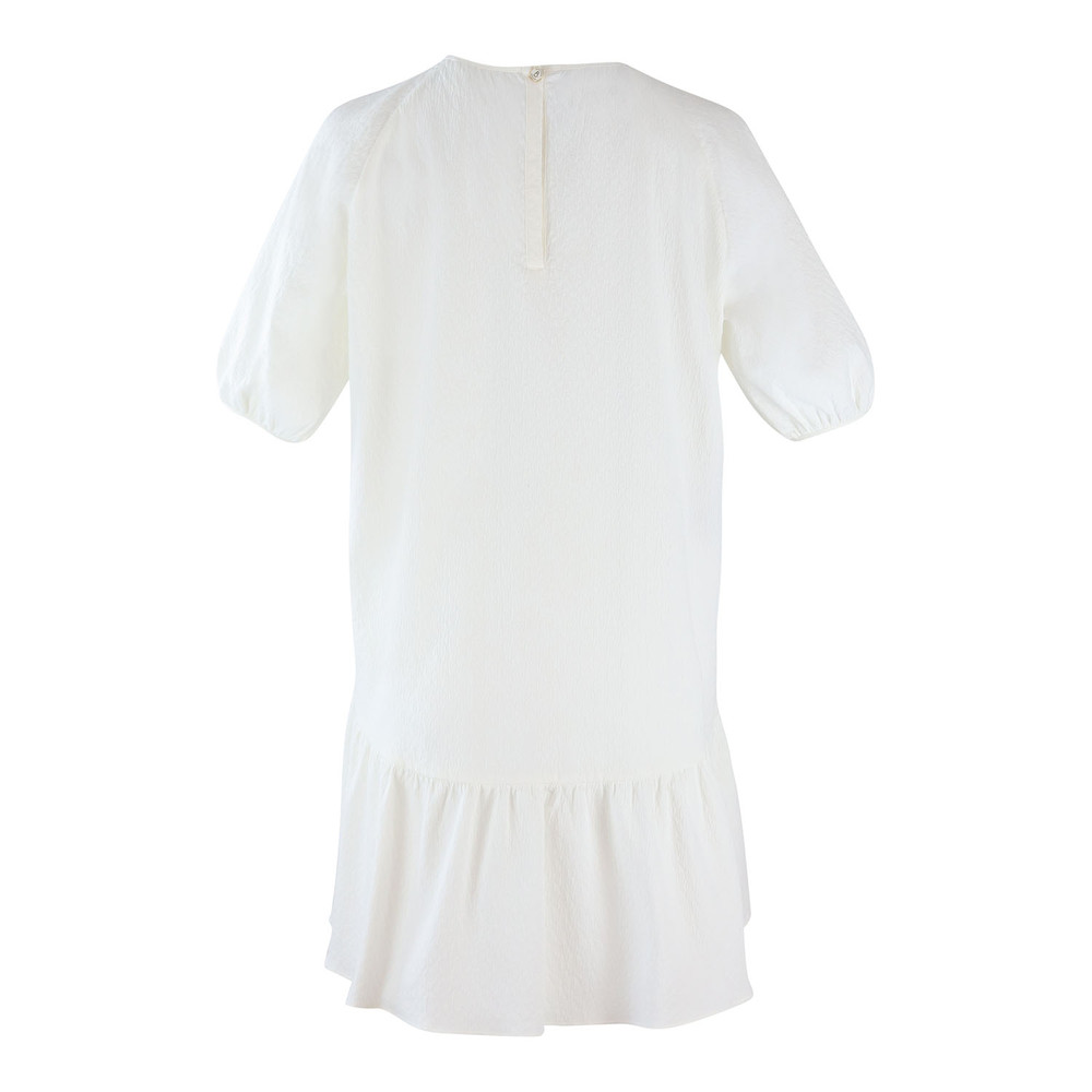 Moschino Boutique Puff Sleeve Short Loose Dress White
