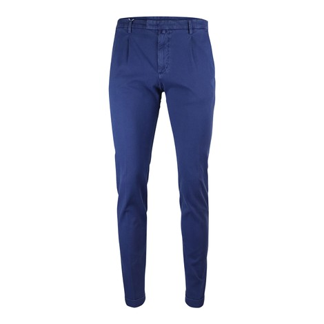 Briglia 1949 Briglia Slim Fit Cotton Trouser With Turn Up in Blue