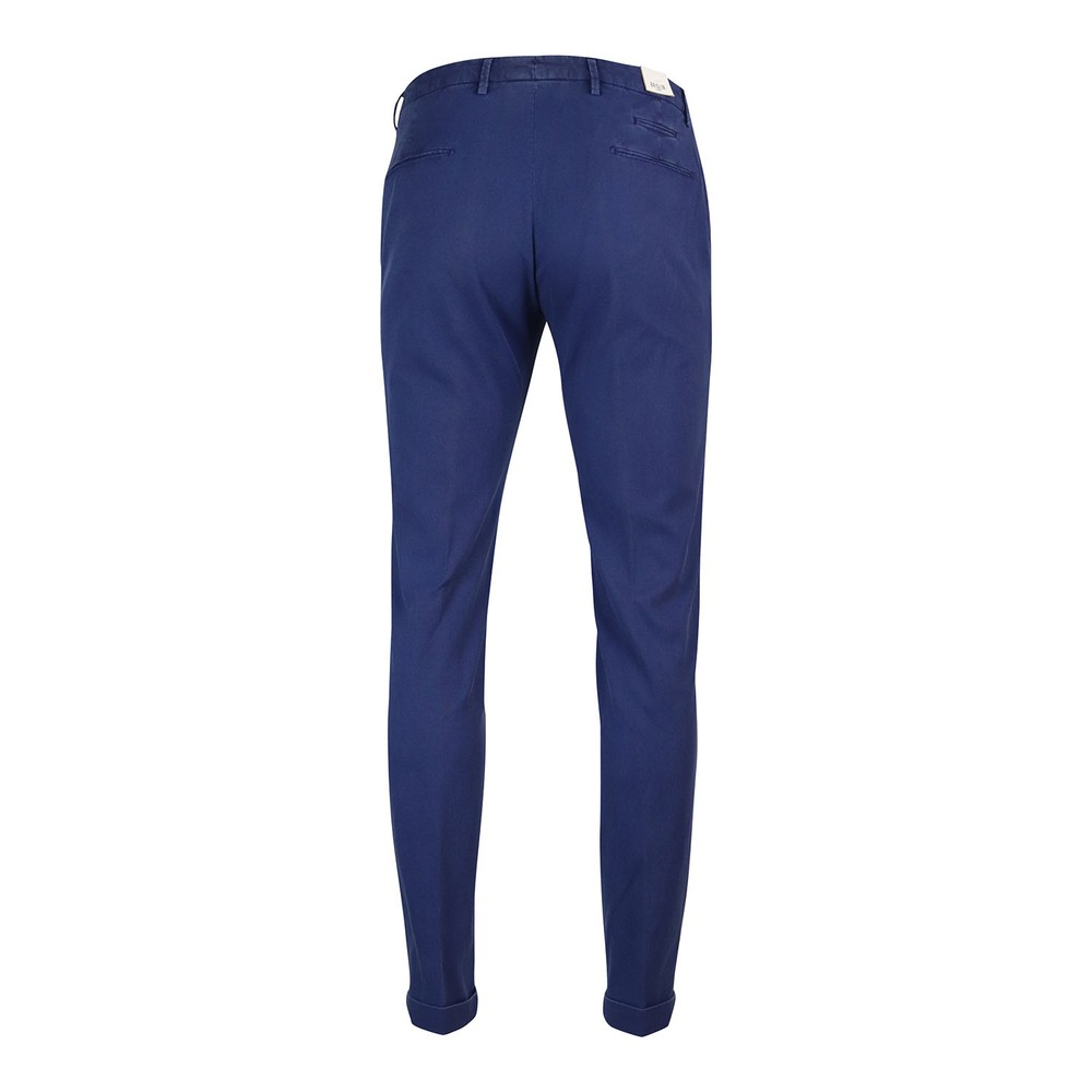 Briglia 1949 Briglia Slim Fit Cotton Trouser With Turn Up Blue