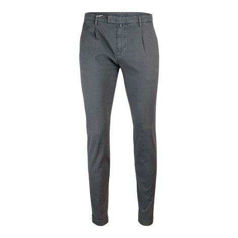 Briglia 1949 Briglia Slim Fit Cotton Trouser With Turn Up in Grey