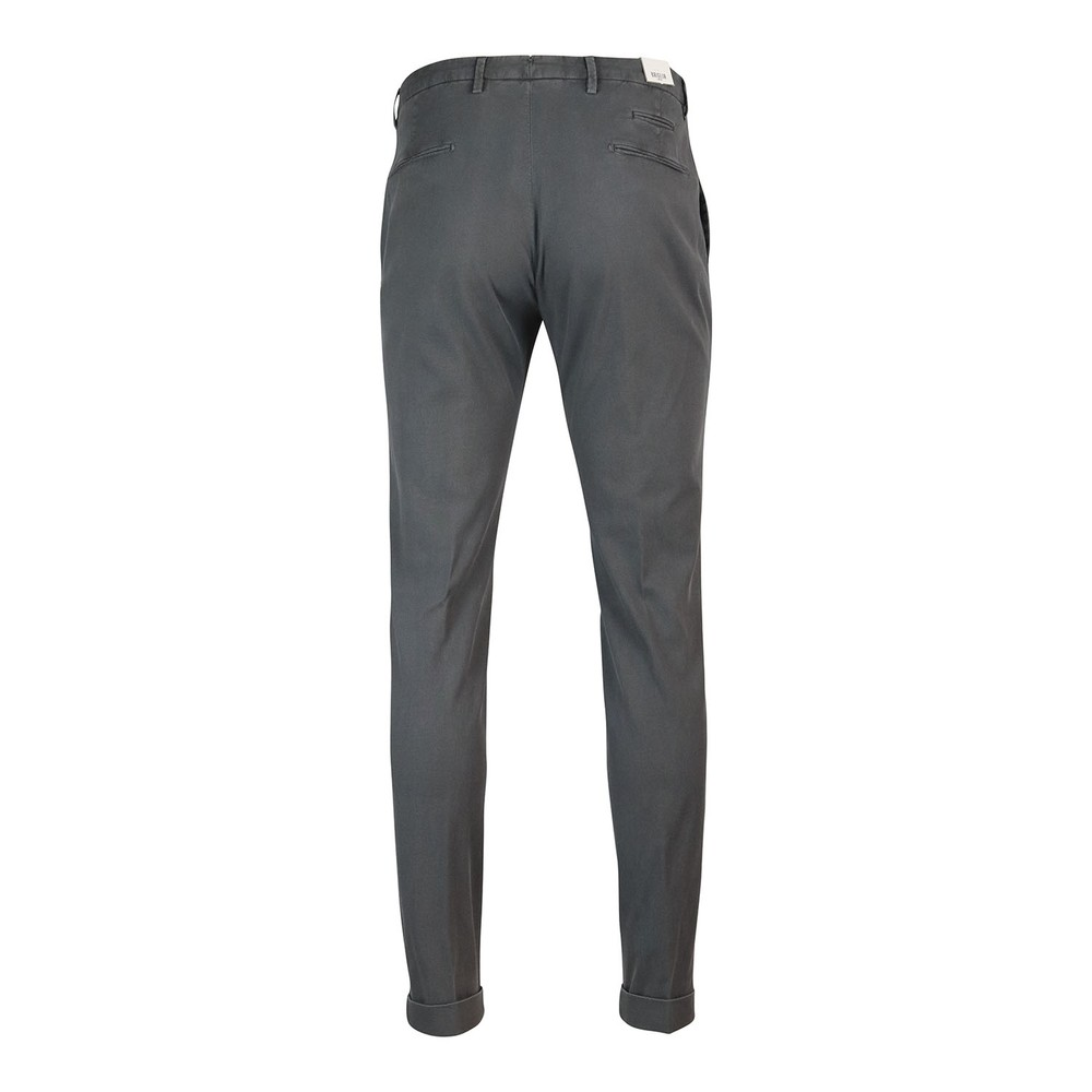 Briglia 1949 Briglia Slim Fit Cotton Trouser With Turn Up Grey