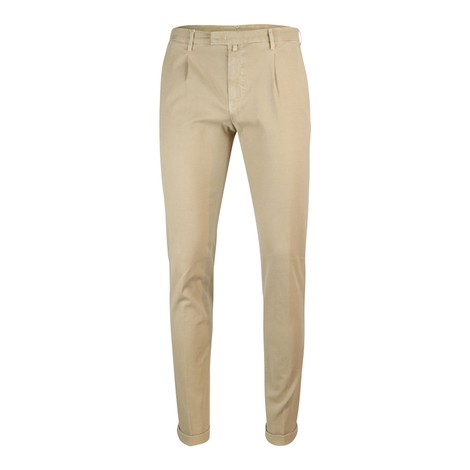 Briglia 1949 Briglia Slim Fit Cotton Trouser With Turn Up in Cream