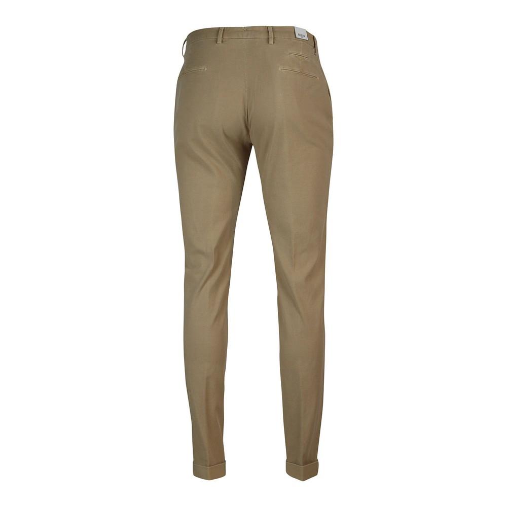 Briglia 1949 Briglia Slim Fit Cotton Trouser With Turn Up Cream
