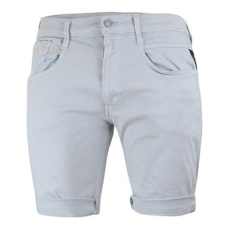 Replay Anbass Hyperflex Stretch Denim Shorts in Light grey