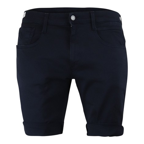 Replay Anbass Hyperflex Stretch Denim Shorts in Navy