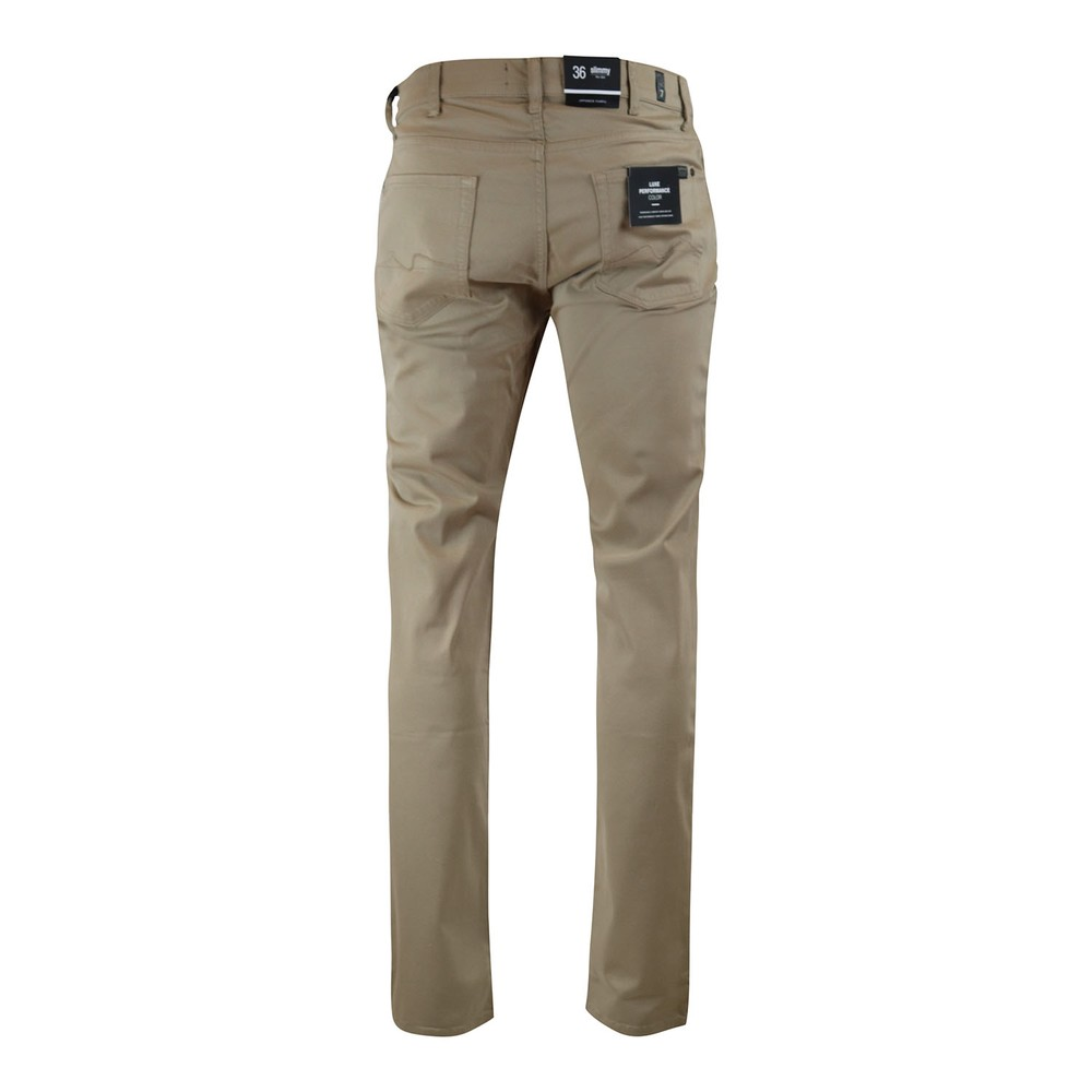 7 For All Mankind Slimmy Luxe Performance Sateen Jeans Beige