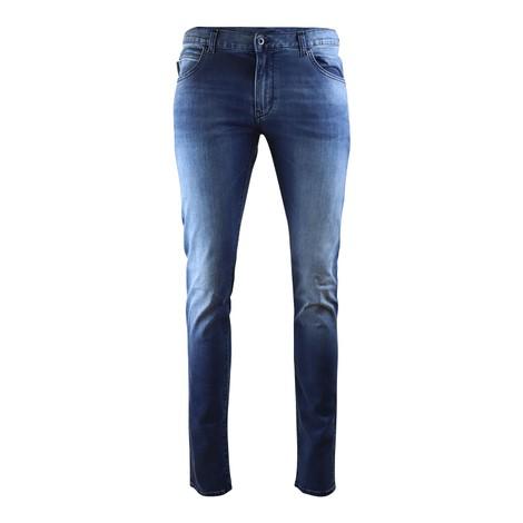 Emporio Armani J10 Extra Slim Fit Jeans in Mid Wash Denim